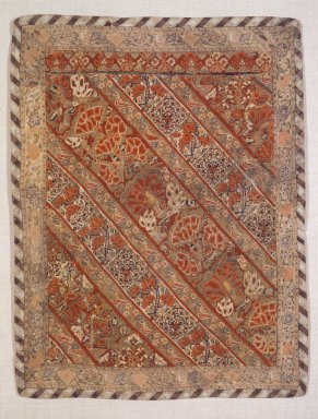 <em>Textile Fragment of a Women's Trouser (Naqsh)</em>, 17th-19th century. Silk, cotton, 25 3/8 x 17 3/4 in. Brooklyn Museum, Ella C. Woodward Memorial Fund, 23.21. Creative Commons-BY (Photo: Brooklyn Museum, 23.21.jpg)