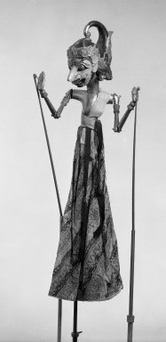 <em>Puppet</em>. Wood, pigmet, fabric, 9 7/16 × 25 3/8 in. (24 × 64.5 cm). Brooklyn Museum, Gift of Frederic B. Pratt, 23.252. Creative Commons-BY (Photo: Brooklyn Museum, 23.252_acetate_bw.jpg)