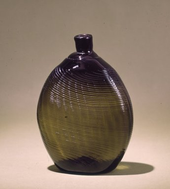 American. <em>Flask</em>, 19th century. Glass, 6 1/4 x 2 1/2 in. (15.9 x 6.4 cm). Brooklyn Museum, Gift of Mr. and Mrs. A. L. Chapins in memory of Louis Chardon, 23.274. Creative Commons-BY (Photo: Brooklyn Museum, 23.274_SL4.jpg)