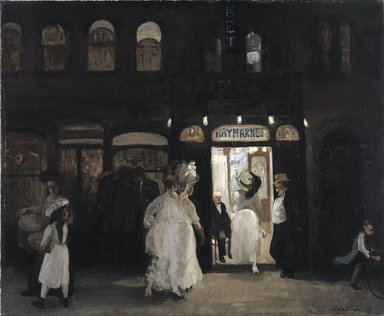 John Sloan (American, 1871-1951). <em>The Haymarket, Sixth Avenue</em>, 1907. Oil on canvas, 26 1/8 x 34 13/16 in. (66.3 x 88.5 cm). Brooklyn Museum, Gift of Mrs. Harry Payne Whitney