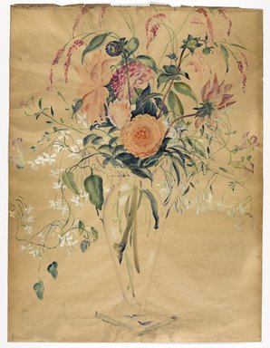 Isabel Lydia Whitney (American, 1884-1962). <em>Flowers</em>, ca. 1923. Watercolor, Sheet: 24 1/8 x 18 1/8 in. (61.3 x 46 cm). Brooklyn Museum, Museum Collection Fund, 23.69 (Photo: Brooklyn Museum, 23.69_PS9.jpg)