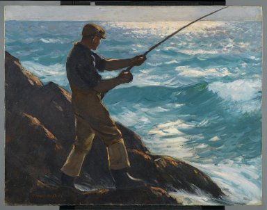 Gifford Reynolds Beal (American, 1879-1956). <em>The Fisherman</em>, 1922. Oil on canvas, 37 x 46 in. (94 x 116.8 cm). Brooklyn Museum, Samuel E. Haslett Fund, 23.72. © artist or artist's estate (Photo: Brooklyn Museum, 23.72_PS2.jpg)