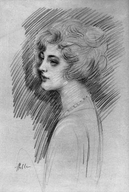 Paul-César Helleu (French, 1859-1927). <em>Mary Ann</em>. Watercolor, 22 1/16 x 14 11/16 in.  (56.0 x 37.3 cm). Brooklyn Museum, 23.93 (Photo: Brooklyn Museum, 23.93_acetate_bw.jpg)