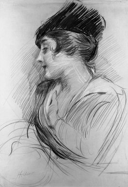 Paul-César Helleu (French, 1859-1927). <em>Mrs. L. B.</em>. Crayon drawing Brooklyn Museum, 23.94 (Photo: Brooklyn Museum, 23.94_acetate_bw.jpg)