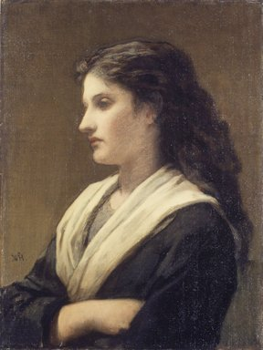 William Morris Hunt (American, 1824-1879). <em>Study of a Female Head</em>, 1872. Oil on canvas, 23 15/16 x 18 in. (60.8 x 45.7 cm). Brooklyn Museum, John B. Woodward Memorial Fund, 24.106 (Photo: Brooklyn Museum, 24.106.jpg)
