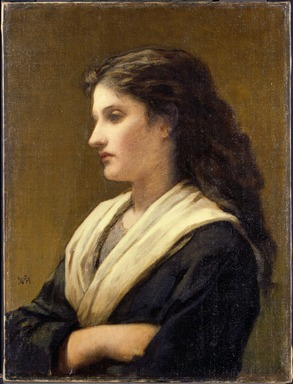 William Morris Hunt (American, 1824-1879). <em>Study of a Female Head</em>, 1872. Oil on canvas, 23 15/16 x 18 in. (60.8 x 45.7 cm). Brooklyn Museum, John B. Woodward Memorial Fund, 24.106 (Photo: , 24.106_SL3.jpg)