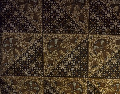 <em>Batik</em>. Cotton, 38 9/16 x 82 11/16 in. (98 x 210 cm). Brooklyn Museum, Ella C. Woodward Memorial Fund, 24.265. Creative Commons-BY (Photo: Brooklyn Museum, 24.265.jpg)