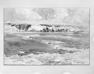 Sybil Walker (American, born 1882). <em>Jersey Shore-Winter</em>. Watercolor Brooklyn Museum, Museum Collection Fund, 24.281 (Photo: Brooklyn Museum, 24.281_glass_bw.jpg)