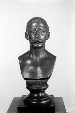 William R. O' Donovan (American, 1844-1920). <em>Bust of Winslow Homer</em>, 1876, cast ca. 1911. Bronze, 12 x 6 x 4 1/2 in. (30.5 x 15.2 x 11.4 cm). Brooklyn Museum, Museum Collection Fund, 24.429. Creative Commons-BY (Photo: Brooklyn Museum, 24.429_acetate_bw.jpg)