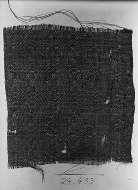 <em>Textile Fragment</em>, 11th-12th century. Silk Brooklyn Museum, Gift of Dr. Rudolf Meyer Riefstahl, 24.433. Creative Commons-BY (Photo: Brooklyn Museum, 24.433_acetate_bw.jpg)