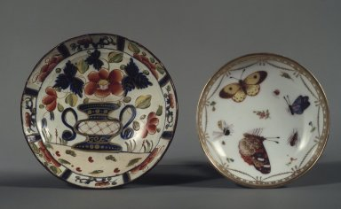 Copy of Meissen Porcelain Factory (German, founded 1710). <em>Saucer: Part of 17-Piece Tea Service</em>, ca. 1825-1830. Porcelain, height: 1 1/4 in. Brooklyn Museum, Gift of Susan D. Bliss, 47.210.73. Creative Commons-BY (Photo: , 24.446.1_47.210.73.jpg)