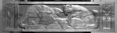 Unknown. <em>Three Cats Reclining</em>. Wood carvings Brooklyn Museum, Gift of Colonel Michael Friedsam, 24.448.1. Creative Commons-BY (Photo: Brooklyn Museum, 24.448.1_bw.jpg)