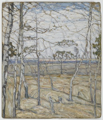 Abraham Manievich (Russian, 1881-1942). <em>Birch Trees</em>, 1911. Oil on canvas, 31 5/8 x 26 15/16 in. (80.3 x 68.4 cm). Brooklyn Museum, Museum Collection Fund, 24.63 (Photo: Brooklyn Museum, 24.63_PS1.jpg)