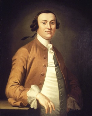 John Wollaston (ca. 1710-after 1775). <em>William Allen</em>, ca. 1756. Oil on canvas, 35 7/8 x 28 1/4 in. (91.1 x 71.8 cm). Brooklyn Museum, Carll H. de Silver Fund, 24.80 (Photo: Brooklyn Museum, 24.80.jpg)
