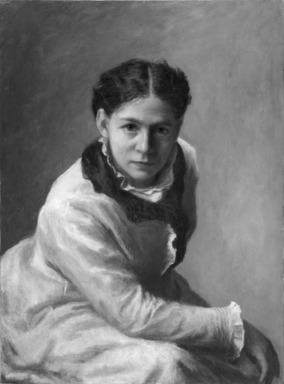 Jane E. Bartlett (American, active ca. 1872-1899). <em>Sarah Cowell LeMoyne</em>, 1877. Oil on canvas, 30 1/16 x 22 1/16 in. (76.4 x 56 cm). Brooklyn Museum, Gift of Mrs. A. Augustus Healy, 24.84 (Photo: Brooklyn Museum, 24.84_bw_SL1.jpg)