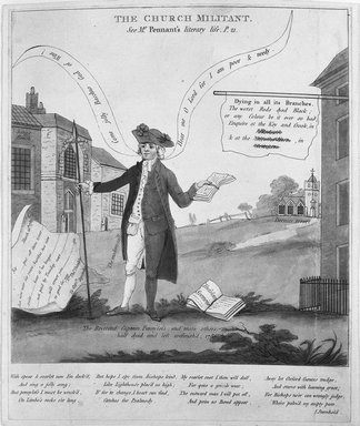 English. <em>The Church Militant</em>, 1783. Etching, engraving and mezzotint on wove paper, up to false margin: 9 5/16 x 7 11/16 in. (23.6 x 19.5 cm). Brooklyn Museum, 25.188 (Photo: Brooklyn Museum, 25.188_bw.jpg)