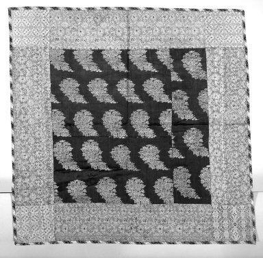 <em>Brocade Square</em>, 18th-19th century. Satin, silk, 20 x 20 in. Brooklyn Museum, 25.26. Creative Commons-BY (Photo: Brooklyn Museum, 25.26_bw.jpg)