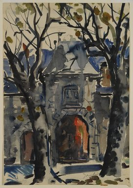 Bradley Walker Tomlin (American, 1899-1953). <em>Doorway at Vizille</em>, 20th century. Watercolor, Image: 16 1/16 x 11 1/4 in. (40.8 x 28.6 cm). Brooklyn Museum, Gift of Frank L. Babbott, 25.521 (Photo: Brooklyn Museum, 25.521_PS4.jpg)