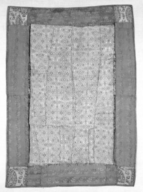 <em>Brocade Panel</em>, 17th-18th century. Silk, 20 7/8 x 30 1/8 in. (53 x 76.5 cm). Brooklyn Museum, Frederick Loeser Fund, 25.739. Creative Commons-BY (Photo: Brooklyn Museum, 25.739_front_bw.jpg)