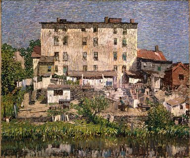 Robert Spencer (American, 1879-1931). <em>The White Tenement</em>, 1913. Oil on canvas, 30 x 36 3/16 in. (76.2 x 91.9 cm). Brooklyn Museum, John B. Woodward Memorial Fund, 25.761 (Photo: Brooklyn Museum, 25.761_SL1.jpg)