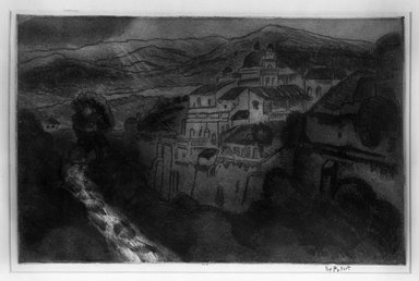 <em>Orizaba Mexico</em>, 1925. Softground etching, printed in color Brooklyn Museum, Museum Collection Fund, 25.76. © artist or artist's estate (Photo: Brooklyn Museum, 25.76_bw_IMLS.jpg)