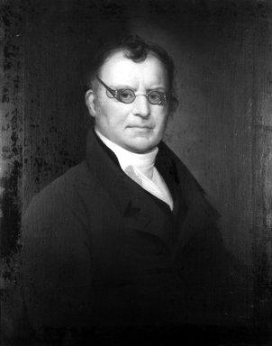 Ezra Ames (American, 1768-1836). <em>Phares Gould</em>, ca. 1830-1835. Oil on canvas, 30 1/16 x 24 in. (76.3 x 61 cm). Brooklyn Museum, Carll H. de Silver Fund, 25.806 (Photo: Brooklyn Museum, 25.806_view2_acetate_bw.jpg)