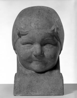 Robert Eloi (French, 1881-1949). <em>Head of a Little Girl</em>, 1919. Stone, 11 x 7 x 7 1/2 in. (27.9 x 17.8 x 19.1 cm). Brooklyn Museum, Gift of Jules S. Bache, 25.901. Creative Commons-BY (Photo: Brooklyn Museum, 25.901_bw.jpg)