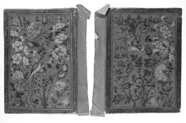 <em>Book Binding</em>, early 19th century. Lacquer on leather, 8 1/4 x 5 7/8 in. (21 x 15 cm). Brooklyn Museum, Museum Purchase Fund, 25.907 (Photo: Brooklyn Museum, 25.907_exterior_bw.jpg)