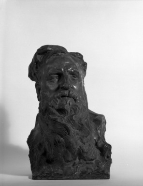 Seraphin Soudbinine (Russian). <em>Portrait of Auguste Rodin</em>, 1909. Bronze, 16 3/4 x 12 3/4 x 12 in. (42.5 x 32.4 x 30.5 cm). Brooklyn Museum, Robert B. Woodward Memorial Fund, 25.912. Creative Commons-BY (Photo: Brooklyn Museum, 25.912_bw.jpg)