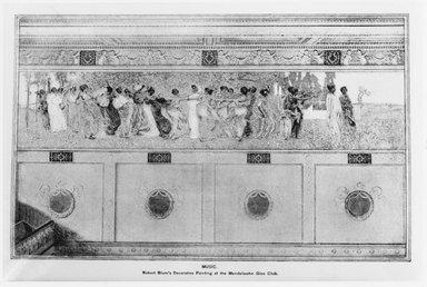 Robert Frederick Blum (American, 1857-1903). <em>Moods to Music</em>, mid-1893 to mid-July 1895. Mixed media, Storage (Stored rolled. Tube dims. ): 18 x 136 x 18 in. (45.7 x 345.4 x 45.7 cm). Brooklyn Museum, Gift of Edward Severin Clark, Frederick Ambrose Clark, Robert Sterling Clark and Stephen Carlton Clark, 26.152 (Photo: Brooklyn Museum, 26.152_Scribners_vol19_no1_p4_1896_print_bw_SL4.jpg)
