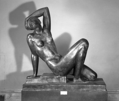 Maurice Sterne (American, born Latvia, 1877-1957). <em>The Awakening</em>, ca. 1926. Bronze, 65 1/2 x 62 x 26 in. (166.4 x 157.5 x 66 cm). Brooklyn Museum, Gift of Adolph Lewisohn, 26.157 (Photo: Brooklyn Museum, 26.157_acetate_bw.jpg)