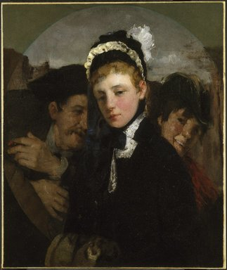 Julian Alden Weir (American, 1852-1919). <em>Union Square</em>, ca. 1879. Oil on canvas, 29 7/8 x 24 15/16 in. (75.9 x 63.4 cm). Brooklyn Museum, Museum Collection Fund, 26.410 (Photo: Brooklyn Museum, 26.410_SL1.jpg)