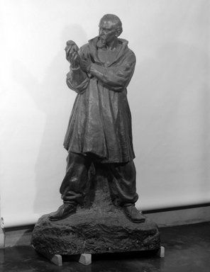 Malvina Hoffman (American, 1885-1966). <em>Ivan Mestrovic</em>, 1925. Bronze, 86 5/8 x 42 1/8 x 31 1/2 in. (220 x 107 x 80 cm). Brooklyn Museum, Gift of Felix M. Warburg and  Edward C. Blum, 26.519. © artist or artist's estate (Photo: Brooklyn Museum, 26.519_bw.jpg)