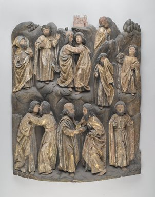 <em>Altar Piece Relief of Jesus and Apostles</em>, early 16th century. Wood, plaster, polychrome, 32 x 24 in. (81.3 x 61 cm). Brooklyn Museum, Museum Surplus Fund, 26.622. Creative Commons-BY (Photo: Brooklyn Museum, 26.622_PS2.jpg)