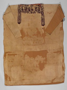 Coptic. <em>Tunic</em>, 5th-6th century C.E. Flax, wool, 63 3/8 x 45 1/4 in. (161 x 115 cm). Brooklyn Museum, Gift of the Long Island Historical Society, 26.746. Creative Commons-BY (Photo: Brooklyn Museum, 26.746.jpg)