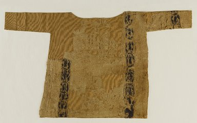 Coptic. <em>Child's Tunic with Figural Decoration</em>, 5th-6th century C.E. Flax, wool, 18 x 32 in. (45.7 x 81.3 cm). Brooklyn Museum, Gift of the Long Island Historical Society, 26.751. Creative Commons-BY (Photo: Brooklyn Museum, 26.751_PS9.jpg)