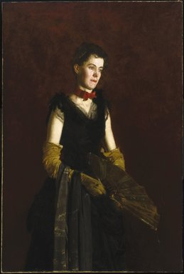 Thomas Eakins (American, 1844-1916). <em>Letitia Wilson Jordan</em>, 1888. Oil on canvas, 59 15/16 x 40 3/16 in. (152.3 x 102 cm). Brooklyn Museum, Dick S. Ramsay Fund, 27.50 (Photo: Brooklyn Museum, 27.50_SL1.jpg)