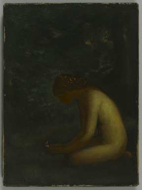 Arthur B. Davies (American, 1862-1928). <em>Psyche</em>, ca. 1906-1908. Oil on canvas, 15 3/16 x 11 5/16 in. (38.5 x 28.8 cm). Brooklyn Museum, Gift of Mrs. Frederic B. Pratt, 27.53 (Photo: Brooklyn Museum, 27.53_PS1.jpg)