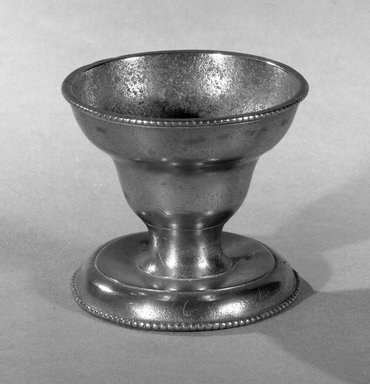 <em>Salt Pewter</em>., 2 1/4 x 2 1/2 in. (5.7 x 6.4 cm). Brooklyn Museum, Gift of Mrs. Samuel Doughty, 27.605. Creative Commons-BY (Photo: Brooklyn Museum, 27.605_acetate_bw.jpg)