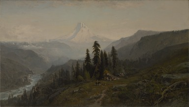 William Keith (American, 1838-1911). <em>Mount Hood, Oregon</em>, ca. 1881-1883. Oil on canvas, 40 1/4 x 72 1/16 in. (102.2 x 183 cm). Brooklyn Museum, Bequest of Mrs. Charles S. Cooke, 27.800 (Photo: , 27.800_PS9.jpg)
