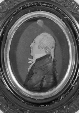 John Christian Rauschner (American, born Germany, 1760-1812). <em>Jonathan Waldo IV</em>, before 1804. Colored wax mounted on wood, Image (sight): 4 1/8 x 3 5/16 in. (10.5 x 8.4 cm). Brooklyn Museum, Bequest of Sarah E. Waldo, 27.975. Creative Commons-BY (Photo: Brooklyn Museum, 27.975_bw_SL1.jpg)
