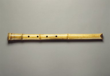 <em>Flute (Shakuhachi?)</em>, 19th century. Bamboo, lacquer, 1 9/16 x 24 3/4 in. (4 x 62.9 cm). Brooklyn Museum, Gift of Mrs. Allan Cowperthwait, 27028. Creative Commons-BY (Photo: Brooklyn Museum, 27028.jpg)