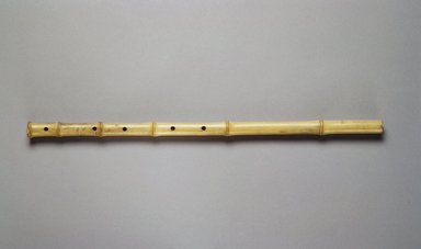 <em>Flute</em>, 19th century. Bamboo, length: 17 5/8 in.  (44.8 cm);. Brooklyn Museum, Gift of Mrs. Allan Cowperthwait, 27032. Creative Commons-BY (Photo: Brooklyn Museum, 27032.jpg)