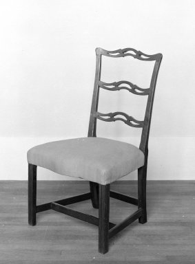 American. <em>Ladder Back Chair</em>, ca. 1775. Mahogany, 36 x 21 1/4 x 17 in. (91.4 x 54 x 43.2 cm). Brooklyn Museum, Henry L. Batterman Fund and Maria L. Emmons Fund, 28.261. Creative Commons-BY (Photo: Brooklyn Museum, 28.261_bw.jpg)