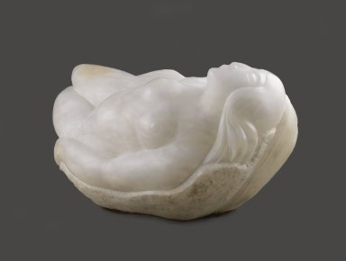 Robert Laurent (American, born France, 1890-1970). <em>The Wave</em>, 1926. Alabaster, 13 1/2 × 24 1/2 × 20 in., 200 lb. (34.3 × 62.2 × 50.8 cm). Brooklyn Museum, Caroline H. Polhemus Fund, 28.275. © artist or artist's estate (Photo: Brooklyn Museum, 28.275_side_view1_PS2.jpg)