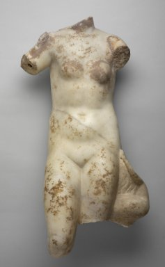 Greek. <em>Torso of Aphrodite</em>, 1st century B.C.E.-1st century C.E. Marble, 29 x 14 3/16 x 9 13/16 in. (73.7 x 36 x 25 cm). Brooklyn Museum, Gift of Frank Bailey, 28.277. Creative Commons-BY (Photo: Brooklyn Museum, 28.277.jpg)