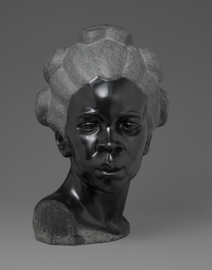 Malvina Hoffman (American, 1885-1966). <em>Martinique Woman</em>, 1928. Black metamorphic stone, 22 x 14 1/4 x 15 1/4 in., 158 lb. (55.9 x 36.2 x 38.7 cm, 71.67kg). Brooklyn Museum, Dick S. Ramsay Fund, 28.384. © artist or artist's estate (Photo: Brooklyn Museum, 28.384_front_PS2.jpg)