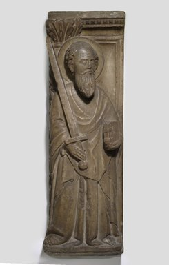 Unknown. <em>Relief of St. Paul</em>, 13th century. Marble, 33 7/16 x 6 7/8 in. (85 x 17.5 cm). Brooklyn Museum, Gift of Mrs. Alfred S. Rossin, 28.539. Creative Commons-BY (Photo: Brooklyn Museum, 28.539_PS6.jpg)