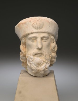 Unknown. <em>Head of St. James the Elder</em>, 15th century (possibly). Limestone, 9 x 5 x 5 in. (22.9 x 12.7 x 12.7 cm). Brooklyn Museum, Museum Collection Fund, 28.540. Creative Commons-BY (Photo: Brooklyn Museum, 28.540_front_PS2.jpg)