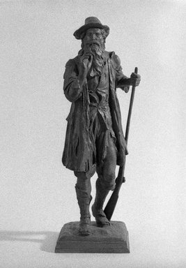 Daniel Chester French (American, 1850-1931). <em>Rip Van Winkle</em>, 1925. Bronze, 19 x 6 x 6 1/2 in., 14.2 lb. (48.3 x 15.2 x 16.5 cm, 6.4kg). Brooklyn Museum, Gift of Mrs. Benjamin Prince, 28.61 (Photo: Brooklyn Museum, 28.61_bw_SL1.jpg)